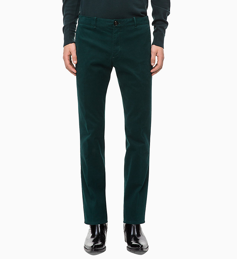 CALVIN KLEIN Slim Chino Trousers - PERFECT BLACK - CALVIN KLEIN MEN - main image