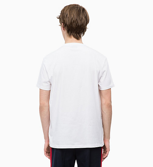 CALVINKLEIN Relaxed Western Badge T-shirt - PERFECT WHITE - CALVIN KLEIN CALVIN KLEIN MENSWEAR - detail image 1