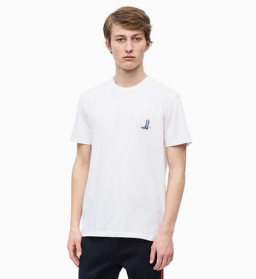 CALVINKLEIN Relaxed Western Badge T-shirt - PERFECT WHITE - CALVIN KLEIN CALVIN KLEIN MENSWEAR - main image