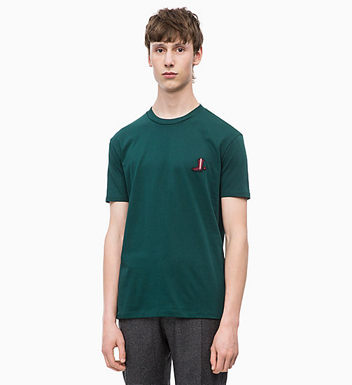 CALVIN KLEIN Relaxed Western Badge T-shirt - PONDEROSA PINE - CALVIN KLEIN CALVIN KLEIN MENSWEAR - main image