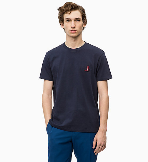 CALVIN KLEIN Relaxed Western Badge T-shirt - 413-SKY CAPTAIN - CALVIN KLEIN CALVIN KLEIN MENSWEAR - main image
