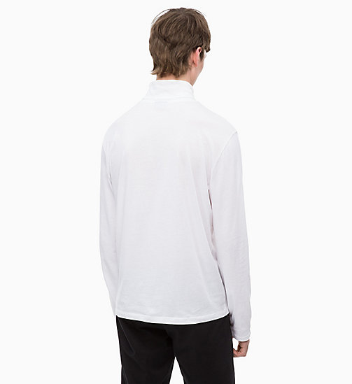 CALVINKLEIN Long Sleeve Turtleneck T-shirt - PERFECT WHITE - CALVIN KLEIN CALVIN KLEIN MENSWEAR - detail image 1