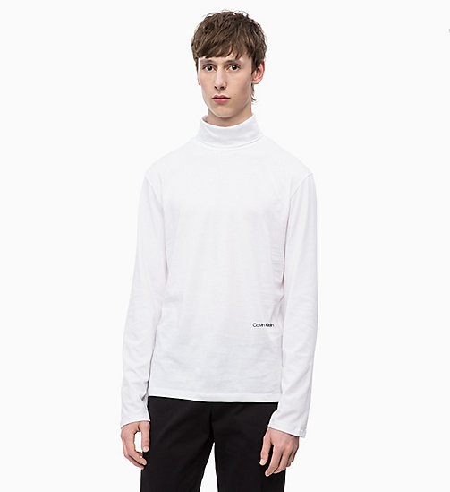 CALVINKLEIN Long Sleeve Turtleneck T-shirt - PERFECT WHITE - CALVIN KLEIN INVEST IN COLOUR - main image