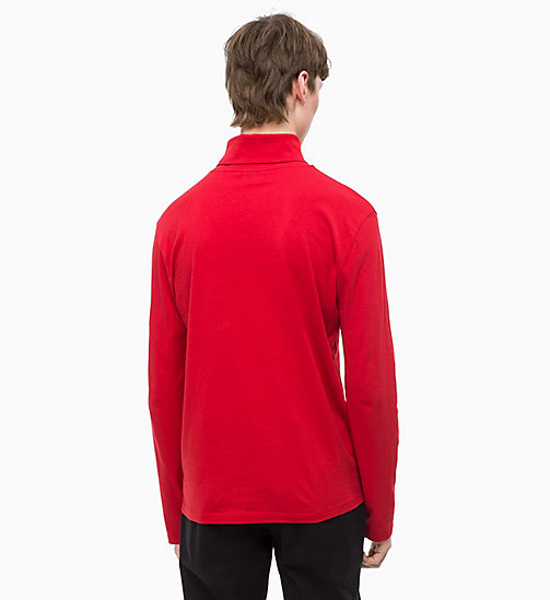 CALVINKLEIN Long Sleeve Turtleneck T-shirt - SALSA - CALVIN KLEIN INVEST IN COLOUR - detail image 1
