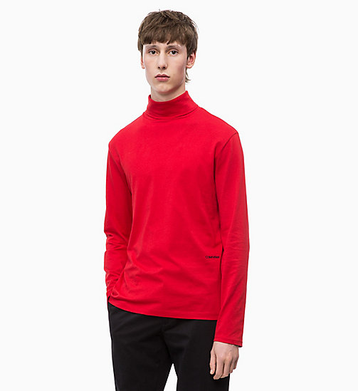 CALVINKLEIN Long Sleeve Turtleneck T-shirt - SALSA - CALVIN KLEIN INVEST IN COLOUR - main image