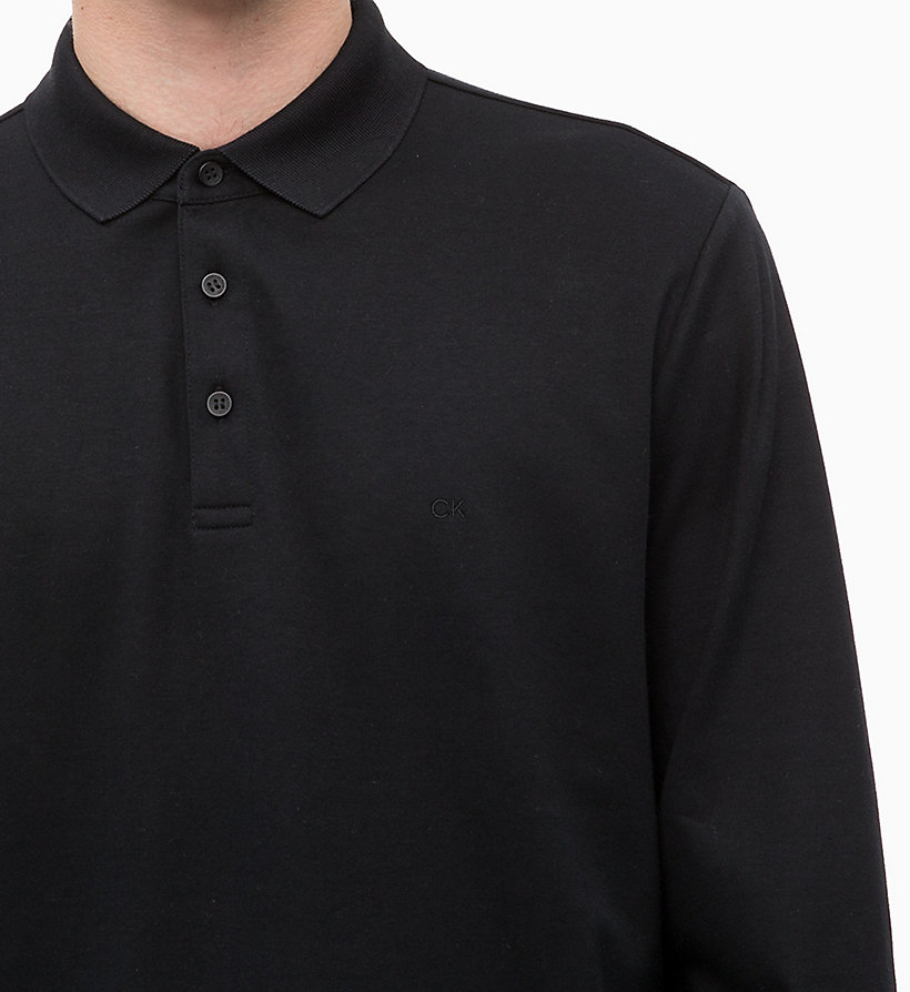 CALVINKLEIN Fitted Long Sleeve Polo - 413-SKY CAPTAIN - CALVIN KLEIN MEN - detail image 2