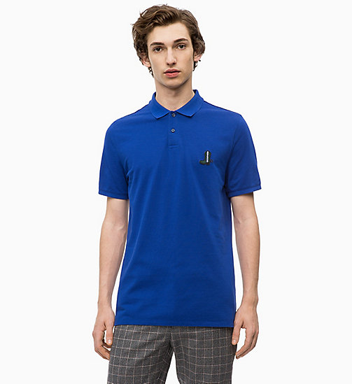 CALVINKLEIN Combed Cotton Polo - SODALITE BLUE - CALVIN KLEIN CLOTHES - main image