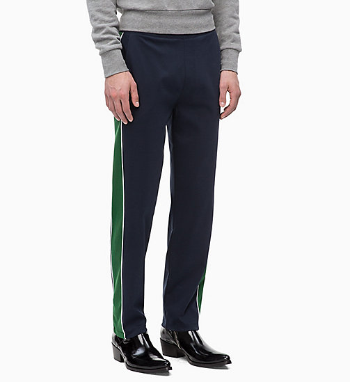 CALVINKLEIN Side-Stripe Joggers - 413-SKY CAPTAIN - CALVIN KLEIN CLOTHES - main image