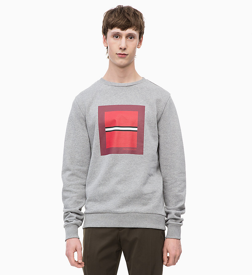 CALVIN KLEIN Graphic Print Sweatshirt - IRON RED - CALVIN KLEIN UNDERWEAR - main image