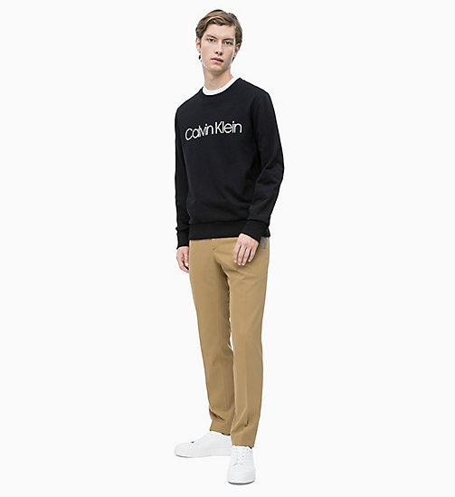 ... CALVIN KLEIN Sweat-shirt en coton bio avec logo - PERFECT BLACK - CALVIN  KLEIN 8c92b7548e81
