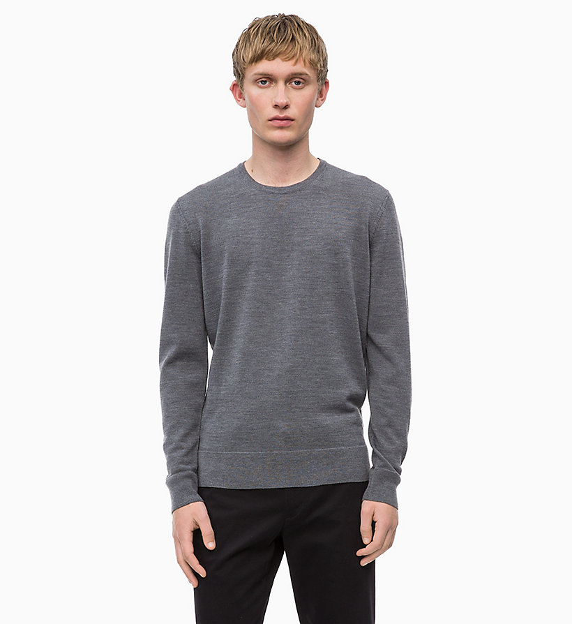 CALVINKLEIN Superior Wool Jumper - IRON RED - CALVIN KLEIN MEN - main image