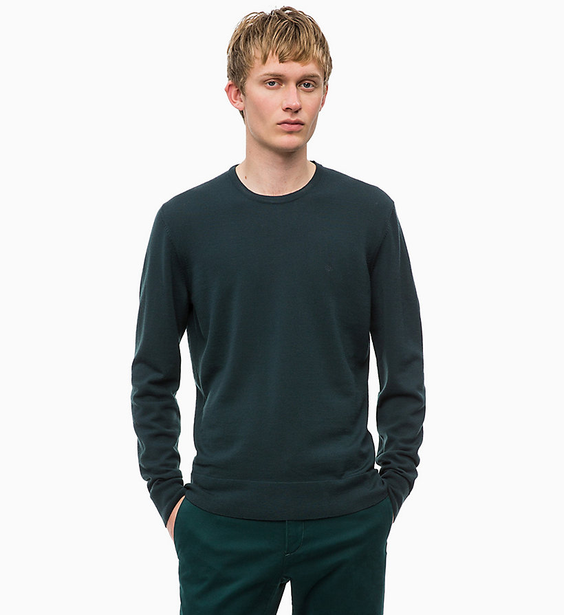 CALVINKLEIN Superior Wool Jumper - MID GREY HEATHER - CALVIN KLEIN MEN - main image