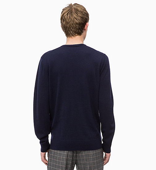 CALVINKLEIN Superior Wool Jumper - SKY CAPTAIN - CALVIN KLEIN CLOTHES - detail image 1