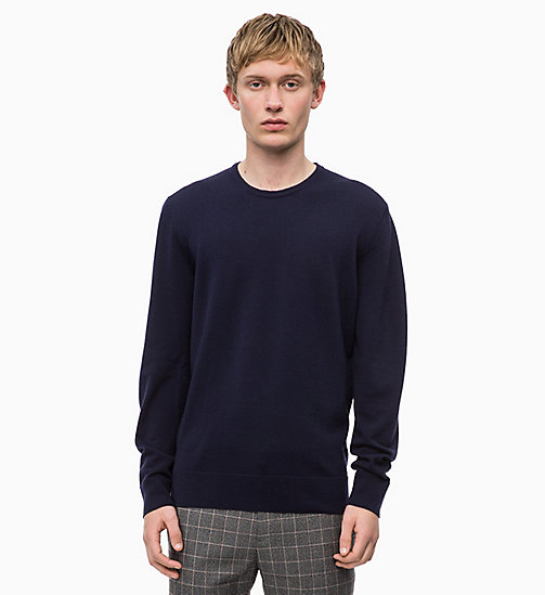 CALVINKLEIN Superior Wool Jumper - SKY CAPTAIN - CALVIN KLEIN CLOTHES - main image