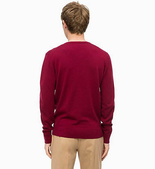 CALVINKLEIN Superior Wool Jumper - IRON RED - CALVIN KLEIN CLOTHES - detail image 1