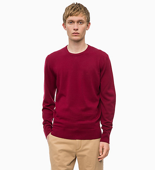 CALVINKLEIN Superior Wool Jumper - IRON RED - CALVIN KLEIN CLOTHES - main image