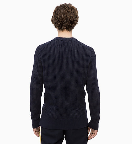 CALVINKLEIN Combed Cotton Jumper - 413-SKY CAPTAIN - CALVIN KLEIN CLOTHES - detail image 1