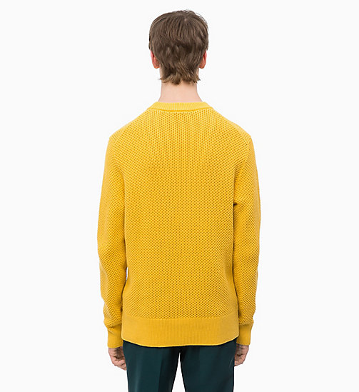 CALVINKLEIN Combed Cotton Jumper - OCHRE YELLOW - CALVIN KLEIN NEW IN - detail image 1