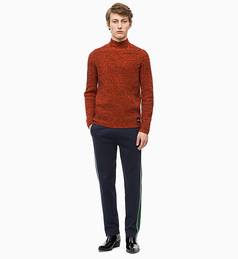 CALVIN KLEIN Mouliné Wool Jumper - 413-SKY CAPTAIN - CALVIN KLEIN MEN - detail image 3
