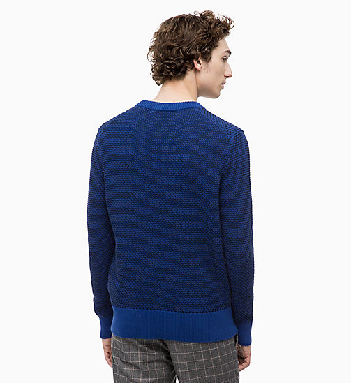 CALVINKLEIN Two-Tone Cotton Jumper - SODALITE BLUE - CALVIN KLEIN CLOTHES - detail image 1