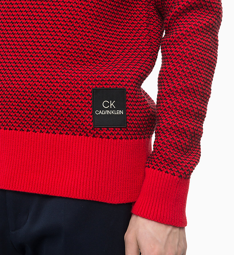 CALVINKLEIN Two-Tone Cotton Jumper - SODALITE BLUE - CALVIN KLEIN MEN - detail image 2