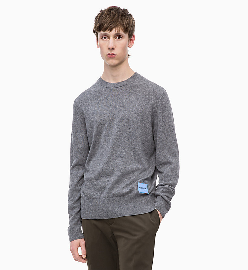 CALVIN KLEIN Wool Cotton Jumper - SODALITE BLUE - CALVIN KLEIN MEN - main image