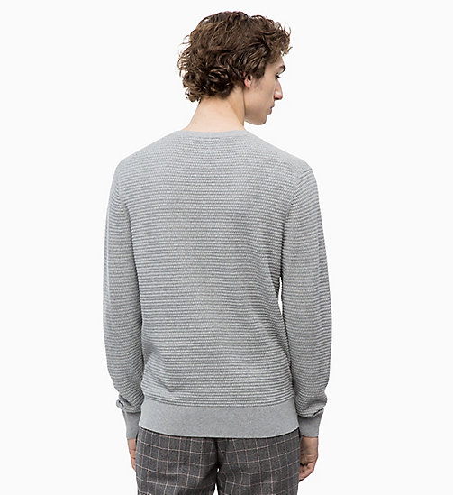 CALVINKLEIN Sweater aus Baumwoll-Woll-Mix - MID GREY HEATHER - CALVIN KLEIN NEW IN - main image 1