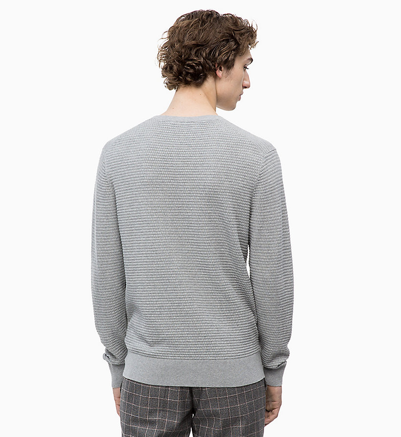 CALVIN KLEIN Cotton Wool Jumper - 413-SKY CAPTAIN - CALVIN KLEIN MEN - detail image 1
