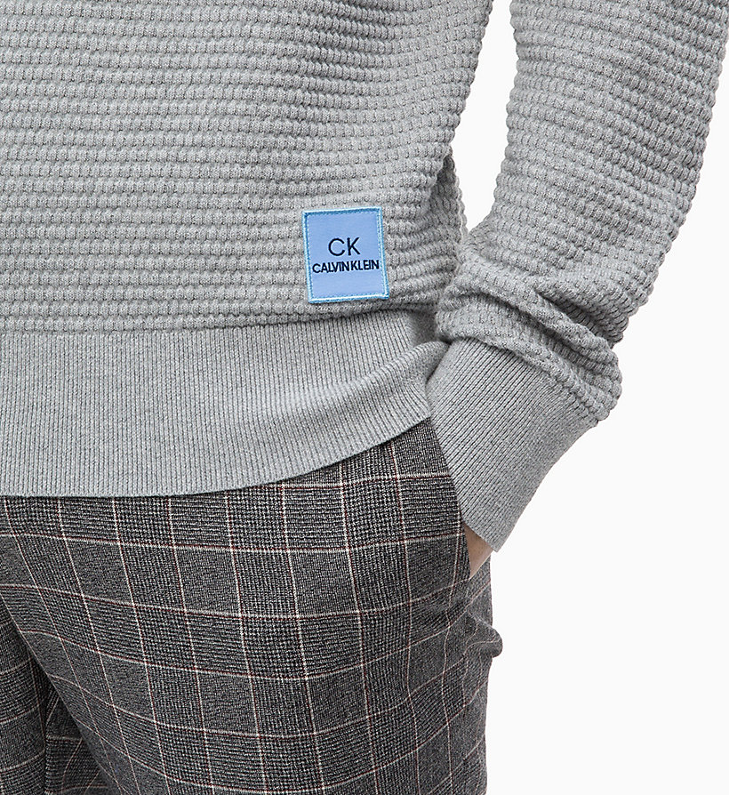 CALVIN KLEIN Cotton Wool Jumper - 413-SKY CAPTAIN - CALVIN KLEIN MEN - detail image 2