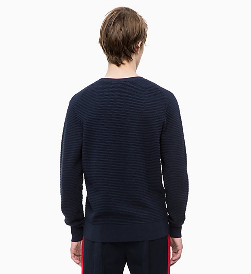 CALVINKLEIN Cotton Wool Jumper - 413-SKY CAPTAIN - CALVIN KLEIN CLOTHES - detail image 1