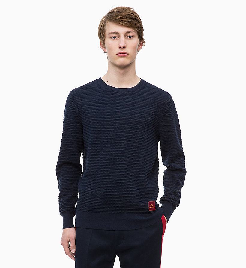 CALVINKLEIN Cotton Wool Jumper - IRON RED - CALVIN KLEIN MEN - main image