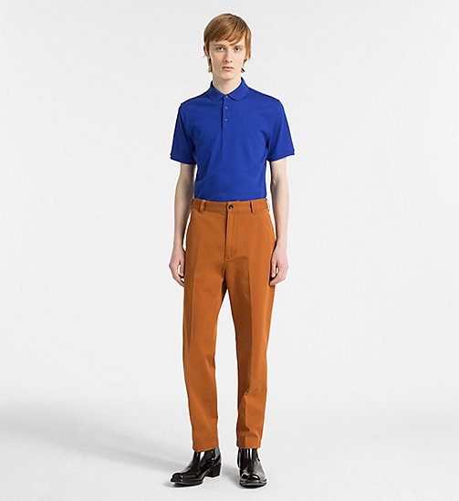 CALVINKLEIN Fitted Cotton Polo - SURF THE WEB - CALVIN KLEIN NEW IN - detail image 1