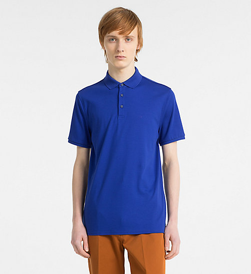 CALVINKLEIN Fitted Cotton Polo - SURF THE WEB - CALVIN KLEIN CLOTHES - main image