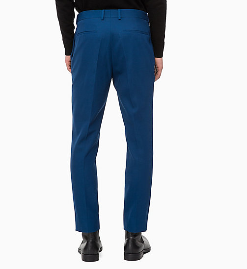 CALVINKLEIN Fitted Wool Blend Trousers - POSEIDON - CALVIN KLEIN CLOTHES - detail image 1