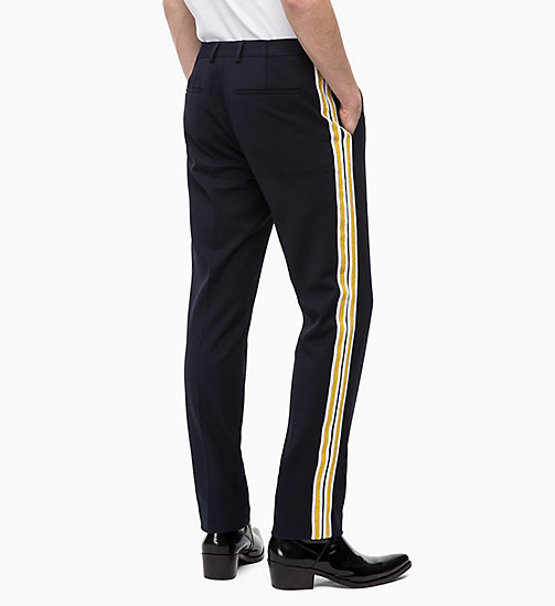 CALVIN KLEIN Fitted Side-Stripe Trousers - 413-SKY CAPTAIN - CALVIN KLEIN CALVIN KLEIN MENSWEAR - detail image 1