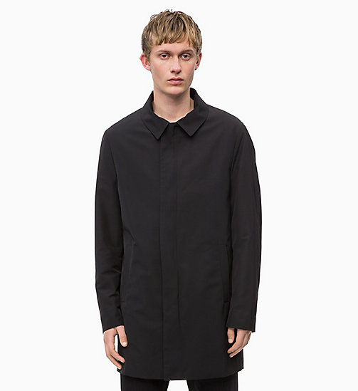 CALVINKLEIN Compact Nylon Coat - PERFECT BLACK - CALVIN KLEIN INVEST IN COLOUR - main image