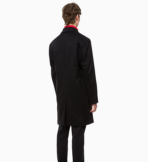 CALVINKLEIN Cashmere Coat - PERFECT BLACK - CALVIN KLEIN INVEST IN COLOUR - detail image 1
