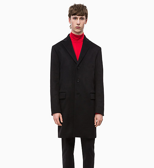 CALVINKLEIN Cashmere Coat - PERFECT BLACK - CALVIN KLEIN INVEST IN COLOUR - main image
