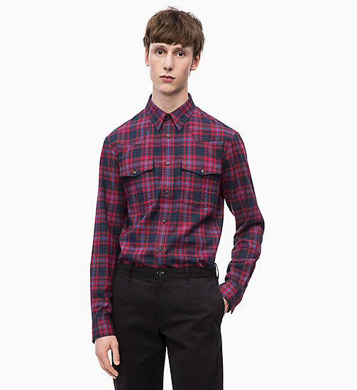 CALVINKLEIN Western Check Shirt - SALSA -  CLOTHES - main image