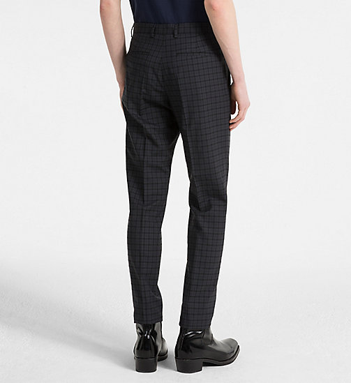 CALVINKLEIN Slim Wool Check Trousers - ASPHALT - CALVIN KLEIN NEW IN - detail image 1