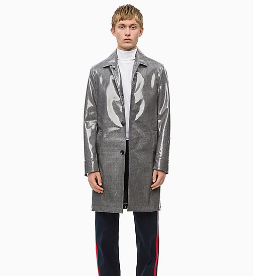 CALVIN KLEIN Laminated Wool Coat - FORGED IRON - CALVIN KLEIN CALVIN KLEIN MENSWEAR - main image