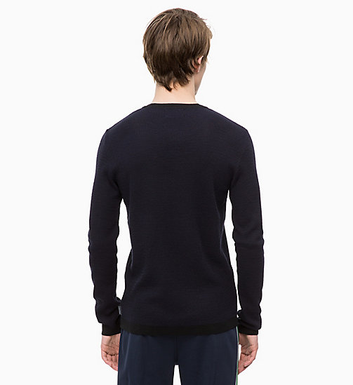 CALVINKLEIN Wool Blend Jumper - 413-SKY CAPTAIN - CALVIN KLEIN CLOTHES - detail image 1
