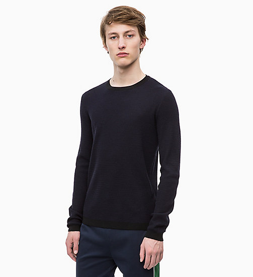 CALVINKLEIN Wool Blend Jumper - 413-SKY CAPTAIN - CALVIN KLEIN NEW IN - main image