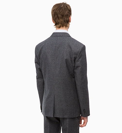 CALVINKLEIN Slim Virgin Wool Blazer - FORGED IRON - CALVIN KLEIN INVEST IN COLOUR - detail image 1