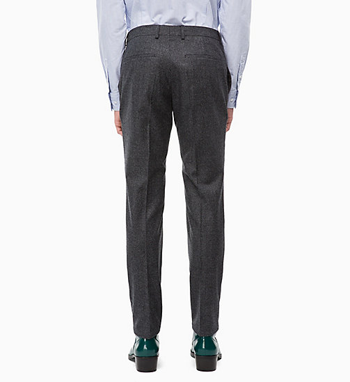 CALVINKLEIN Slim Virgin Wool Trousers - FORGED IRON - CALVIN KLEIN INVEST IN COLOUR - detail image 1