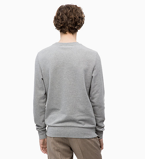 CALVINKLEIN Logo Badge Sweatshirt - MID GREY HEATHER - CALVIN KLEIN CALVIN KLEIN MENSWEAR - detail image 1