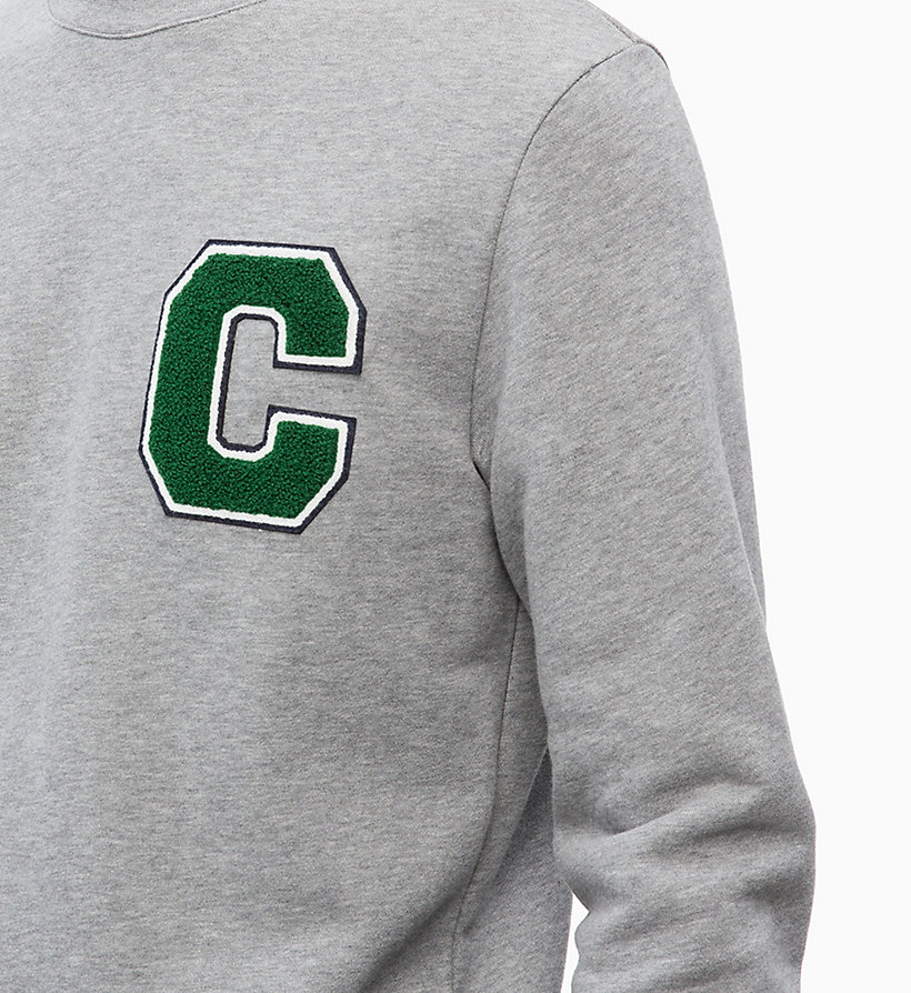 CALVIN KLEIN Logo Badge Sweatshirt - 413-SKY CAPTAIN - CALVIN KLEIN MEN - detail image 2