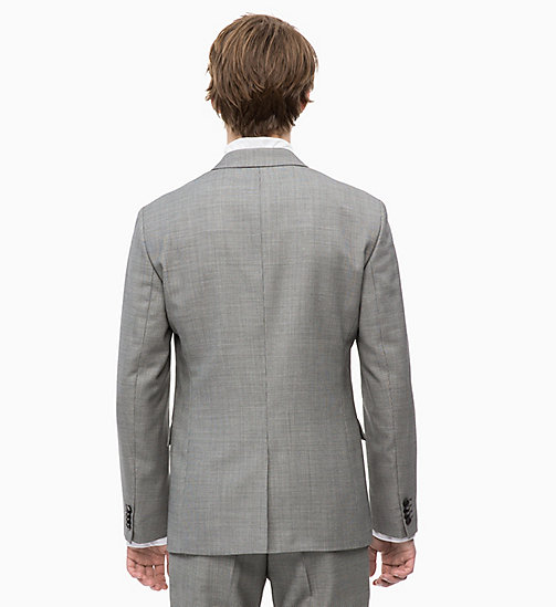 CALVINKLEIN Slim Virgin Wool Blazer - ALLOY - CALVIN KLEIN INVEST IN COLOUR - detail image 1