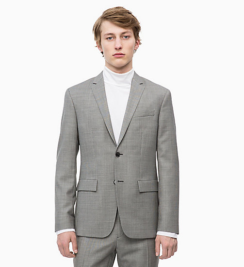 CALVINKLEIN Slim Virgin Wool Blazer - ALLOY - CALVIN KLEIN INVEST IN COLOUR - main image