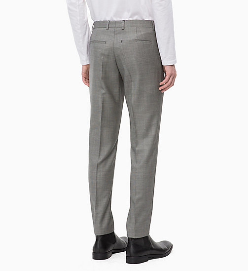 CALVINKLEIN Slim Virgin Wool Trousers - ALLOY - CALVIN KLEIN BLAZERS & SUITS - detail image 1